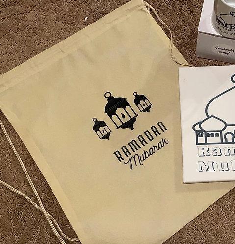 Large Ramadan drawstring bag