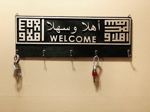 """Arabic """"Ahlan wa Sahlan"""" Welcome Key Holder"""
