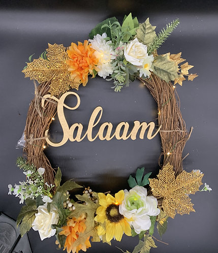 Spring Salam Wreath with Led Lights