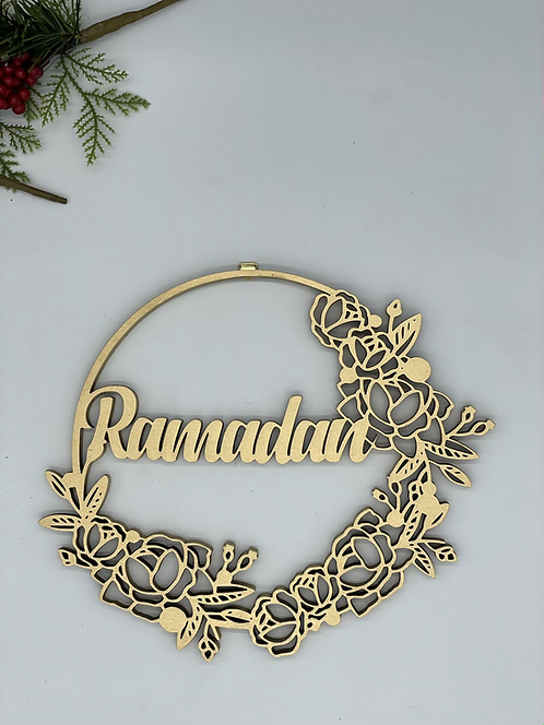 Ramadan wood wreath now double the thickness