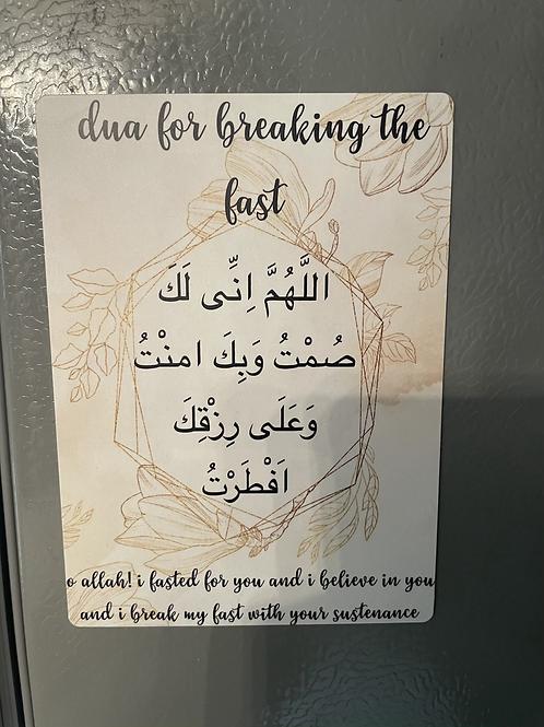 Ramadan Iftar dua magnet