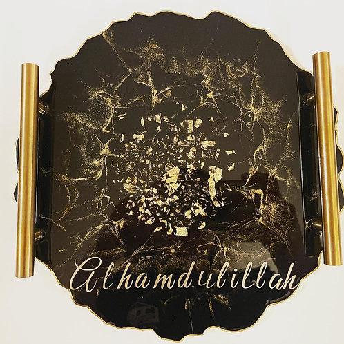Resin Alhamdullilah tray