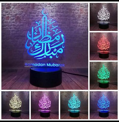 LED Ramadan Mubarak lamp 7 colors