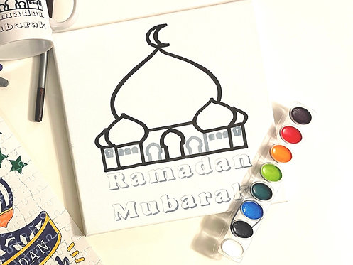 Ramadan Mubarak color me canvas