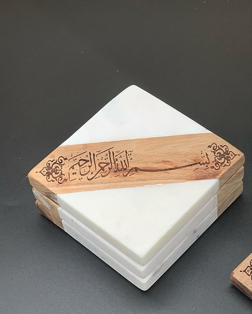 "Marble""Bismillah"" Coasters"