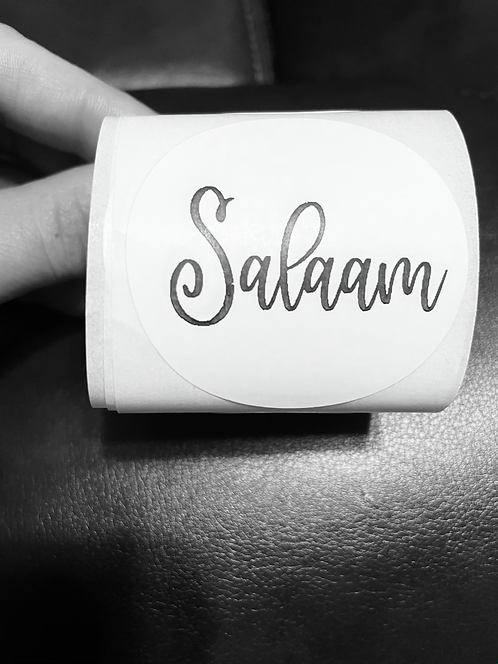"""2"""" Salaam stickers 50 count"""