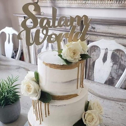 Wooden Cake Topper for Any Occasion