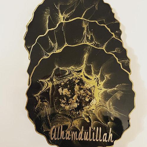 Resin Alhamdullilah four coasters