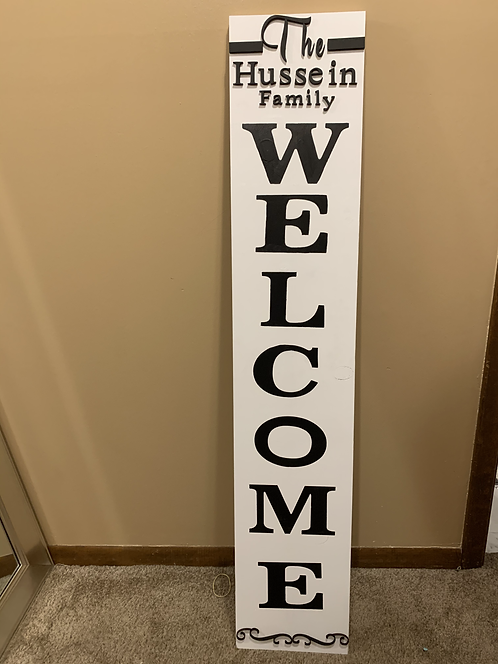 Personalized Front Porch Welcome Sign
