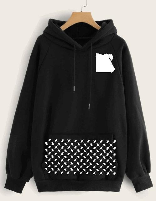 Egypt hooded sweatshirt