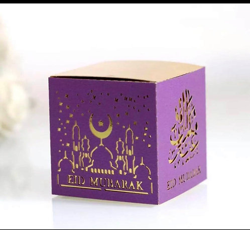 Eid Mubarak small candy boxes (2-3 week shipping time)