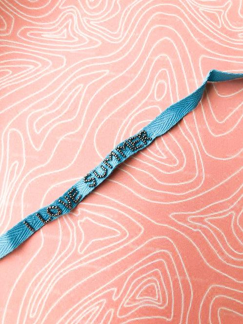 I Love Summer Lace Up Bracelet