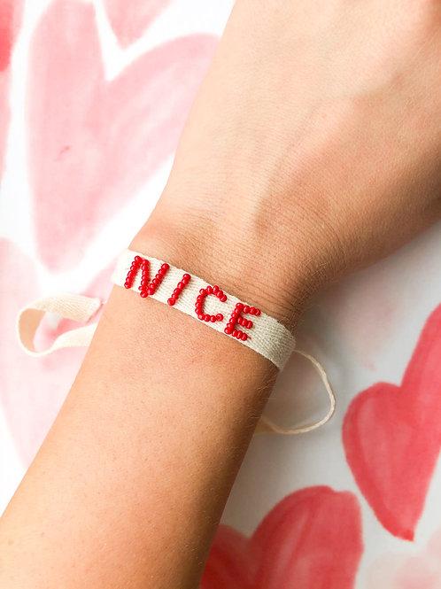 Nice Lace Up Bracelet