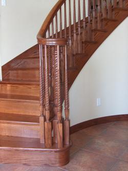All oak staircase