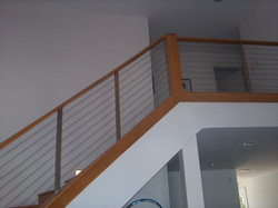 White oak stairs