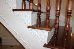walnut treads & balusters