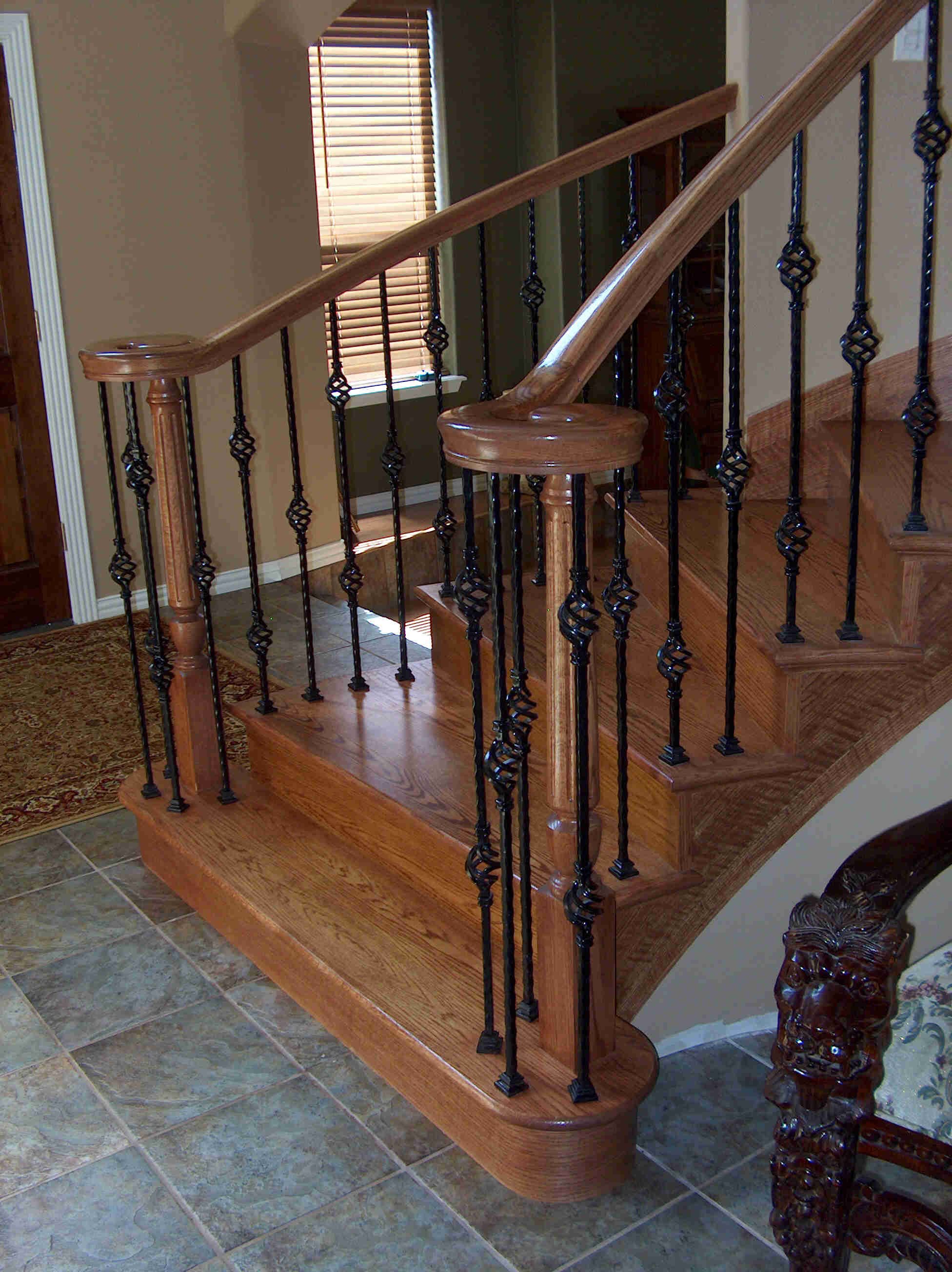 All oak staircase