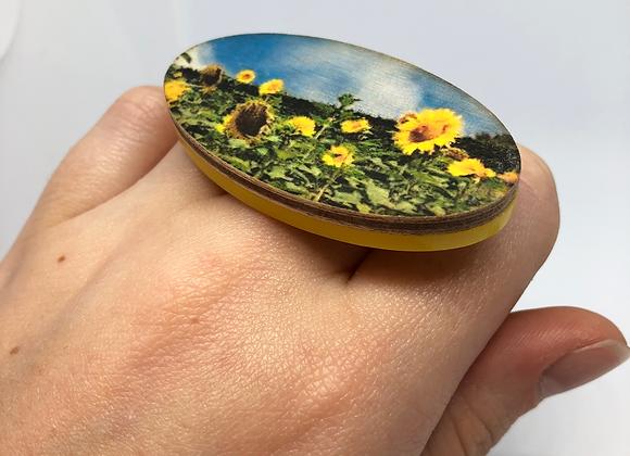 Yellow Sunflower Ring