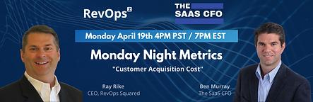 Monday Night Metrics Poster - April 19th