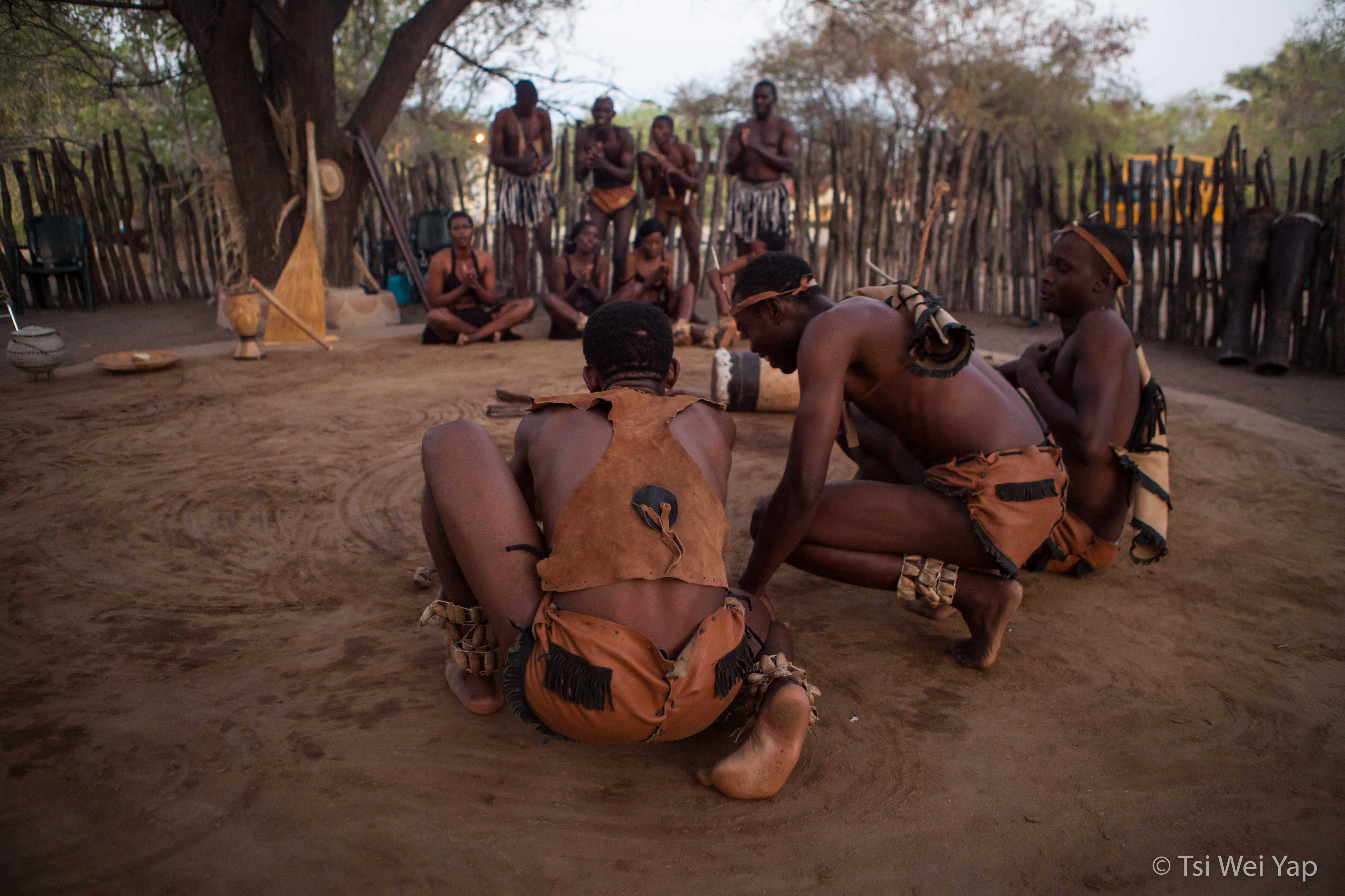 Tribal Gathering Demonstration - Maun