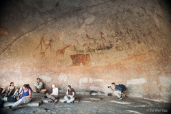 African Cave Drawing and Jordi