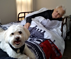 Thistlecreek client with therapy dog