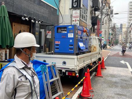新宿区・新宿の電気工事の現場♪ラッキー!(^^)!仕事開始3時間で終わりました\(^o^)/株式会社ピアレス東京【警備業】