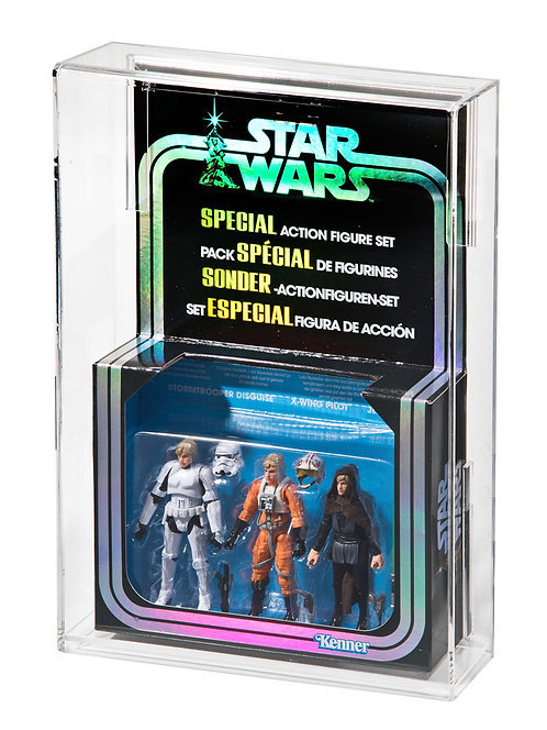 Hasbro Star Wars Modern 3 Pack Acrylic Display Case