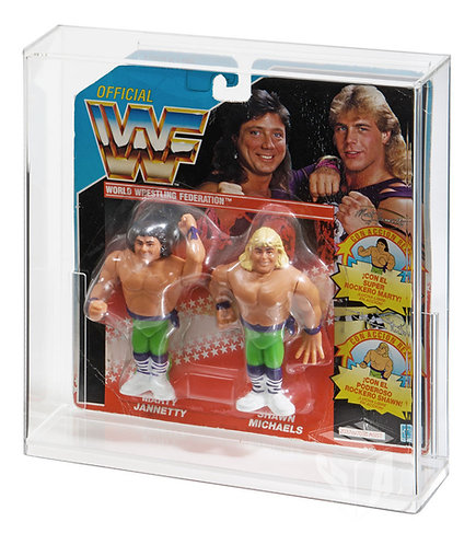 Hasbro WWF Tag Team Carded Figure Acrylic Display Case