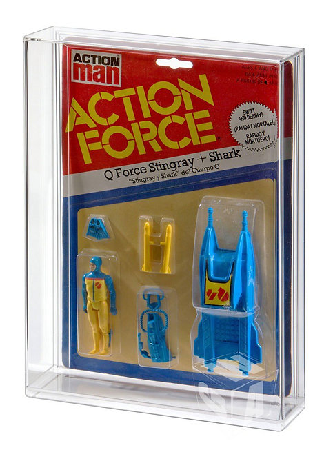 Action Force Large Card Figure & Vehicle Acrylic Display Case