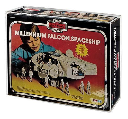 PALITOY ESB Bi-Logo ROTJ Millennium Falcon Acrylic Display Case