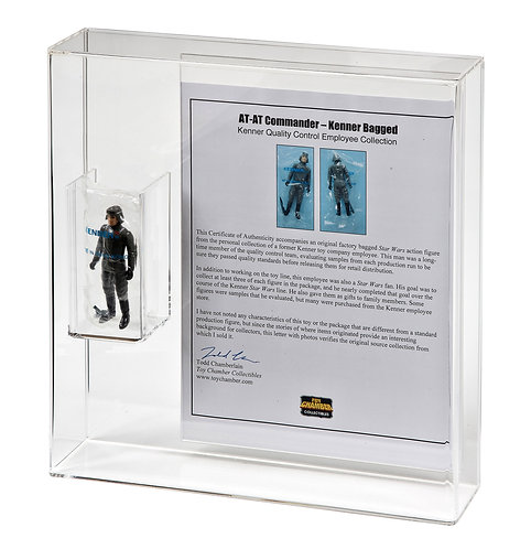 Loose/Bagged Figure + COA/Flyer/Leaflet Bespoke Display Case
