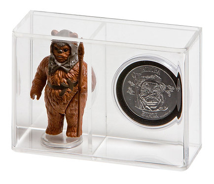 """Loose Action Figure With Coin Display Case - Small 3 3/4"""""""