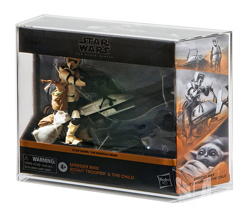 """Hasbro Black Series 6"""" Scout Trooper and The Child Acrylic Display Case"""
