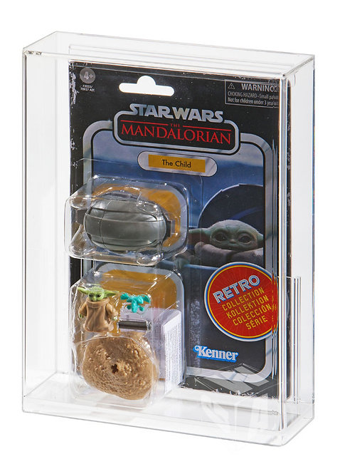 Hasbro Mandalorian Retro Grogu MOC Acrylic Display Case