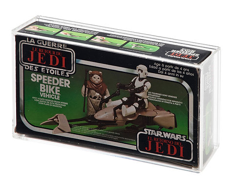 ROTJ Speeder Bike MIB (EURO/PALITOY) Display Case
