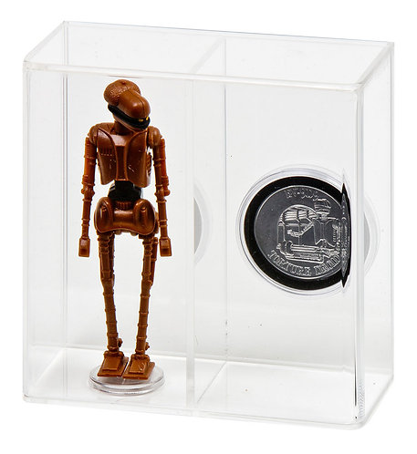 """Loose Action Figure With Coin Display Case - Large 3 3/4"""""""