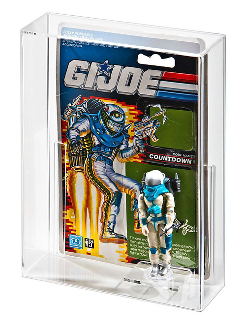 GI-Joe/Action Force - Loose Cardback and Loose Figure Display Case