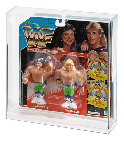 Hasbro WWF Tag Team Carded Figure Acrylic Display Case