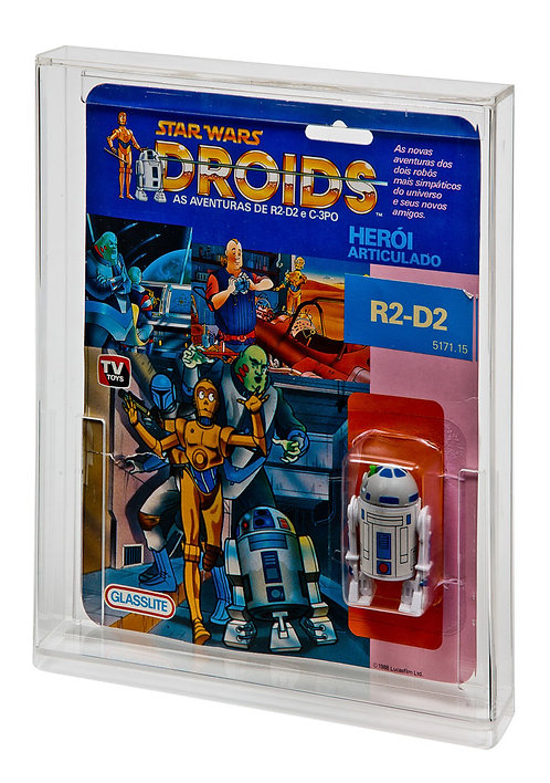 Carded Action Figure Display Case - Droids Glasslite (Brazil)