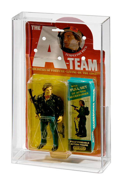 Vintage GALOOB A-Team Carded Figure Acrylic Display Case