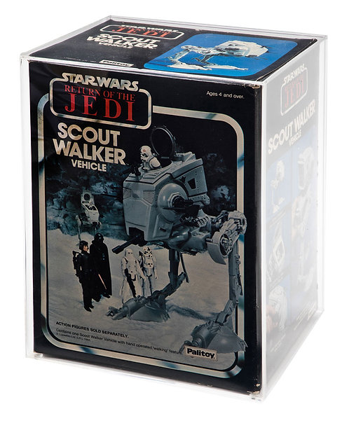 ESB & ROTJ AT-ST Boxed Vehicle Display Case