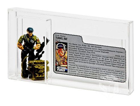 GI-Joe Loose Figure & File Card Acrylic Display Case