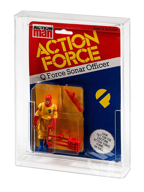Vintage Action Force Carded Acrylic Display Case