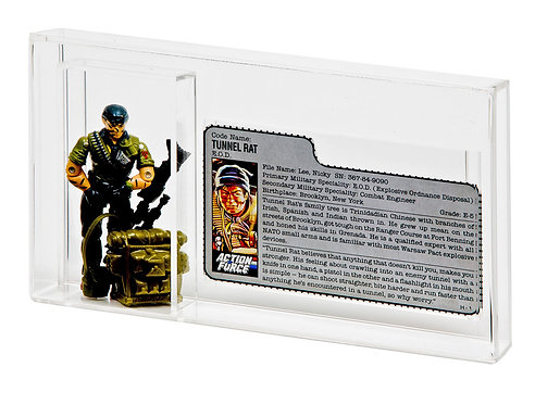 GI-Joe Loose Figure & File Card Acrylic Display Case