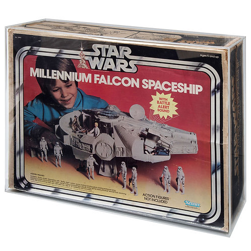 KENNER Star Wars ESB ROTJ Millennium Falcon Acrylic Display Case