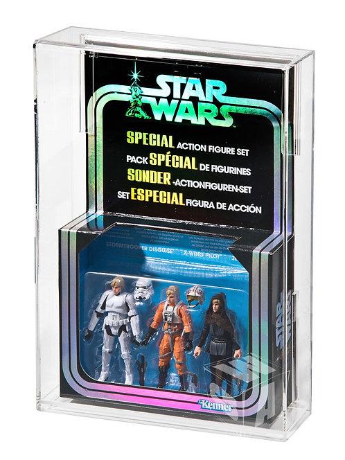 Hasbro Star Wars Modern 3 Pack Acrylic Display Case