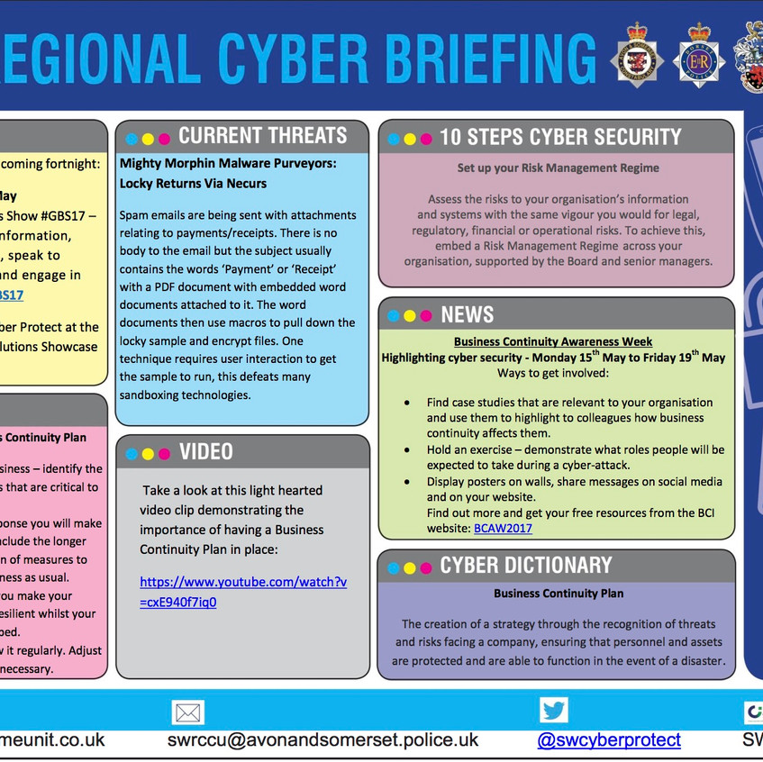 Regional Cyber Briefing 8th May