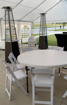 Tent, Chairs, Patio Heater Rental