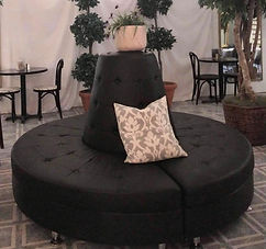 Round Lounge Couch Rental